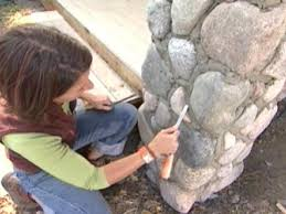How To Make A Rock Patio by How To Build Stone Pillars How Tos Diy