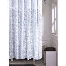 High End Fabric Shower Curtains Romance White Or Ivory Lace Shower Curtain Altmeyers Bedbathhome