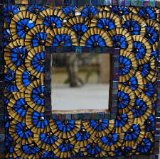 tile u0026 mosaic for sale blue and gold mosaic mirror artsyhome