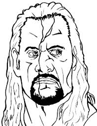 undertaker from world wrestling entertainment coloring page