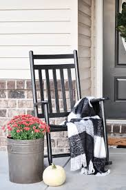 Cozy Front Porch Chairs On Cozy Fall Porch Little Glass Jar