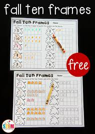 fall ten frame printables the stem laboratory