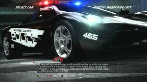 police mclaren need for speed pursuit police mclaren f1 youtube