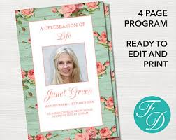 sle of funeral program funeral program template pink blossom program order of