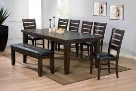 urbana 6pc espresso dining set 74620 74624 74625