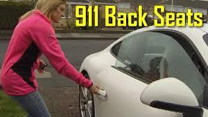 porsche 911 back seat back seat test porsche 911 991 child