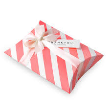 new year party favors 14 10 2 8cm thick striped candy gift pillow paper box
