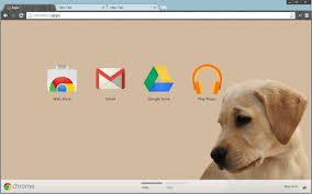 chrome google webstore cute puppy theme chrome web store