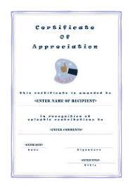 free printable certificates of appreciation