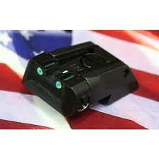 fiber optic fully adjustable sight set fusion firearms