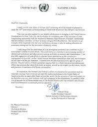letters of support u2014 the polish mission