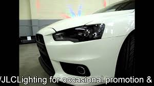 mitsubishi lancer evolution x projector retrofit by jlc lighting