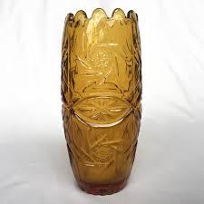 vintage retro home decor 90 u0027s amber glass vase made in yugoslavia vintage vase retro