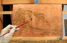 how to paint on copper preparing copper plate by candice bohannon