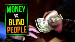 people who write papers for money how blind people use paper money youtube