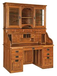 Office Furniture Desk Hutch Mission Roll Top Desk With Optional Hutch From Dutchcrafters Amish