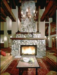 Fireplace In Middle Of Room Middle Ranchlake View Terrance Ca Ewing Architects