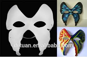 masquerade masks wholesale diy masks white painted with elastic band paper pulp