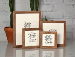 Gallery Wall Frames by Basic Picture Frame Natural Walnut Gallery Wall Frames
