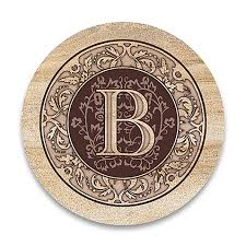 monogram letter b monogram letter b coasters set of 4 bed bath beyond