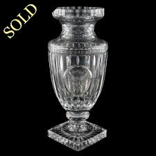 Cut Crystal Vases Antique Antique Glass Vase Antique Cut Crystal Vase