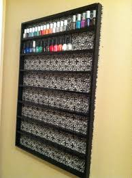 diy nailpolish rack i might have to do this with how many