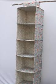 roses floral fabric closet organizer storage hanging shelves