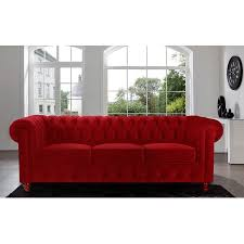 classic scroll arm tufted velvet chesterfield large sofa walmart com