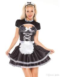 Maid Halloween Costume 2017 Lingerie Maid Costumes Women Flirty French