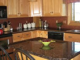 maple wood espresso windham door kitchen with oak cabinets