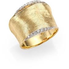 gold band ring marco bicego lunaria diamond 18k yellow gold band ring polyvore