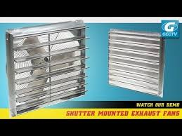 silent whole house fan exhaust fan with shutter youtube