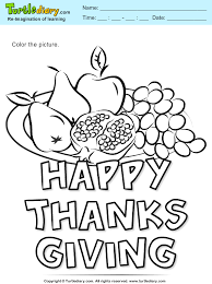 thanksgiving fruits coloring sheet turtle diary