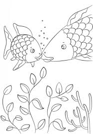 small fish speaks rainbow fish coloring free printable