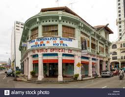 rumah penginapan modern hotel george town penang malaysia stock