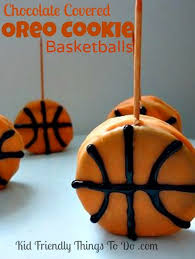 March Madness Decorations Basketball Decorated Cookies On A Toothpick A Fun Food Madness