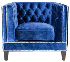 Chairs Armchairs Pasargad Victoria Collecion Tufted Velvet Armchair Navy