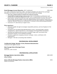 Mortgage Resume Account Executive Resume