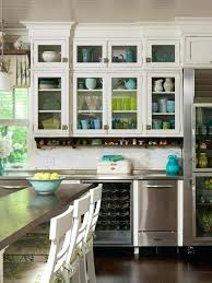 kitchen display ideas what to display in glass kitchen cabinets faced