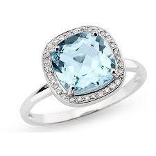blue topaz engagement rings 3 1 2 carat blue topaz and diamond 14k white gold ring