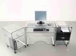 Glass Home Office Desk Endearing Office Desk Glass 6 Fice Type All