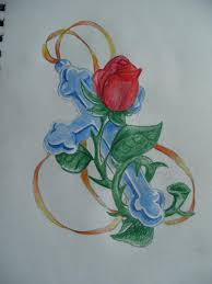 colored cross and rose tattoo design ideas tattoomagz