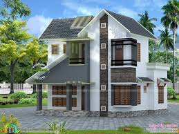slope roof low cost home design kerala and floor plans budget plan