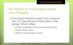 william d ford federal direct loan program what is the difference between federal direct and perkins