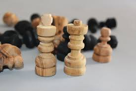 large wooden pieces olive wood carved chess pieces large size by tunisiabazaar