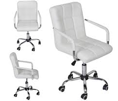 White Office Furniture White Leather Office Chair Flash Furniture Midback Designer