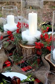 Christmas Table Decorations Cheap by Custom Wood Outdoor Christmas Table Setting Decorating Design