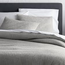 Tan Duvet Cover King Lindstrom Grey Duvet Covers And Pillow Shams Crate And Barrel