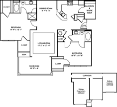 detached garage floor plans greystone summit two bedroom the leconte