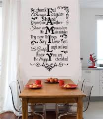 family rules be thankful vinyl decal wall stickers words lettering